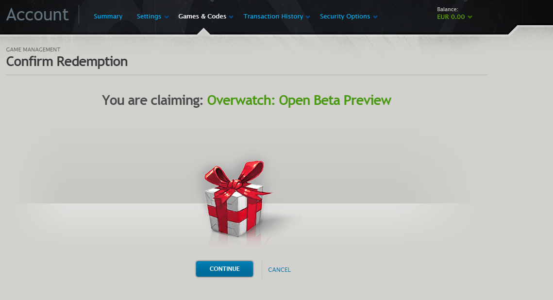 To redeem your Overwatch Early Access key, please follow these steps: 1. Go  to battle.net/code. 2. Create a FREE Battle.net account. If you already  have one ...