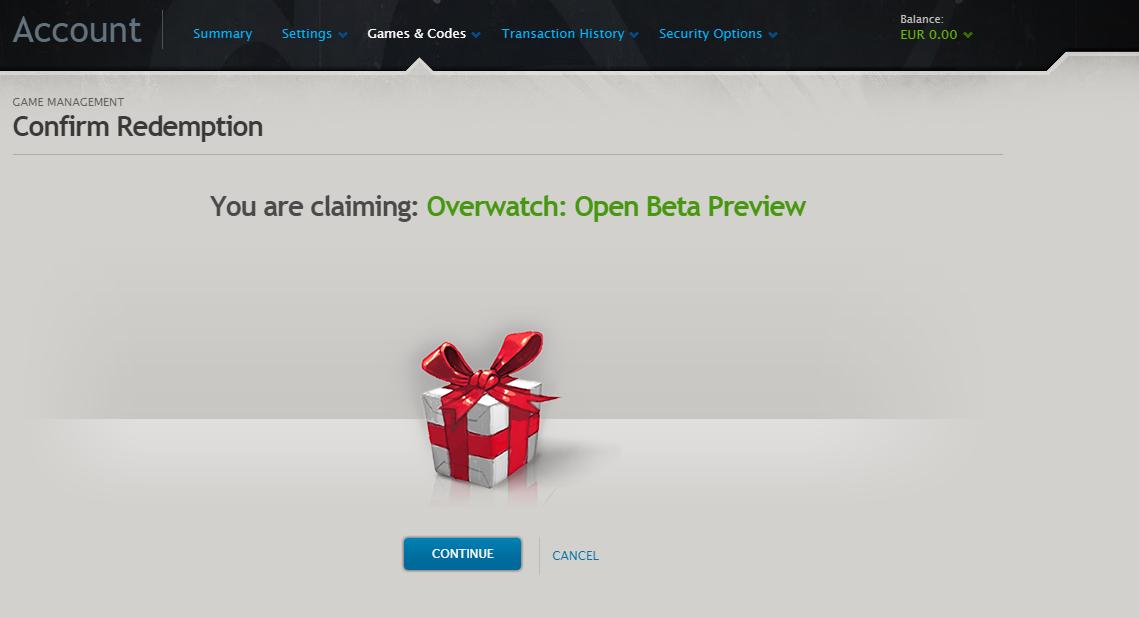 Overwatch free key