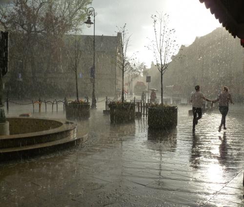 niespodziewany deszcz