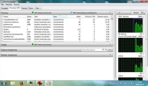 Acer Aspire One - Koszmarnie wysokie użycie CPU