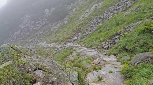 Dolina pięciu stawów, na zielonym szlaku
