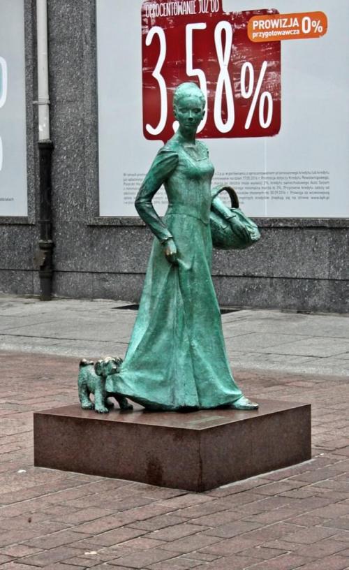 Toruń - pomnik piernikarki